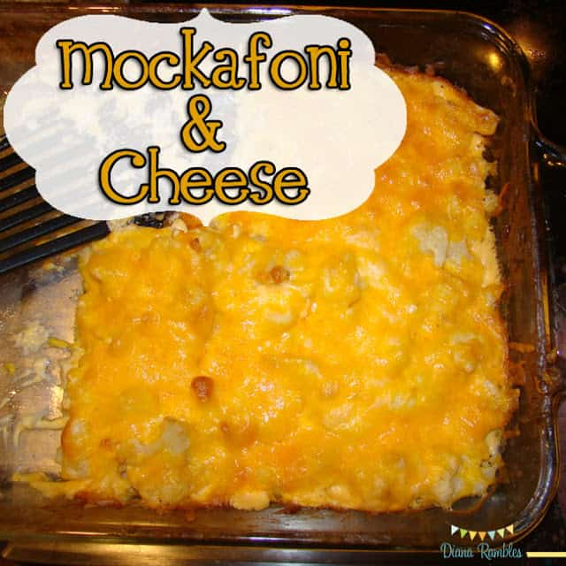 Mockafoni and Cheese Low-Carb Macaroni Alternative Recipe - Trying to reduce your carbs? Check out this mockafoni and cheese recipe that is made with cauliflower instead of macaroni.