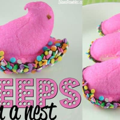 Peeps Bird Nest Easter Treat
