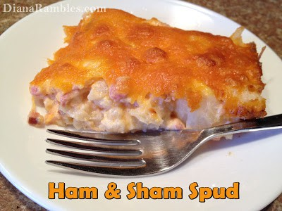 Ham & Sham Spud Casserole Recipe - Looking for a lower carb recipe? Try this tasty and hearty Ham Sham Spud Casserole that is made with leftover ham and cauliflower.
