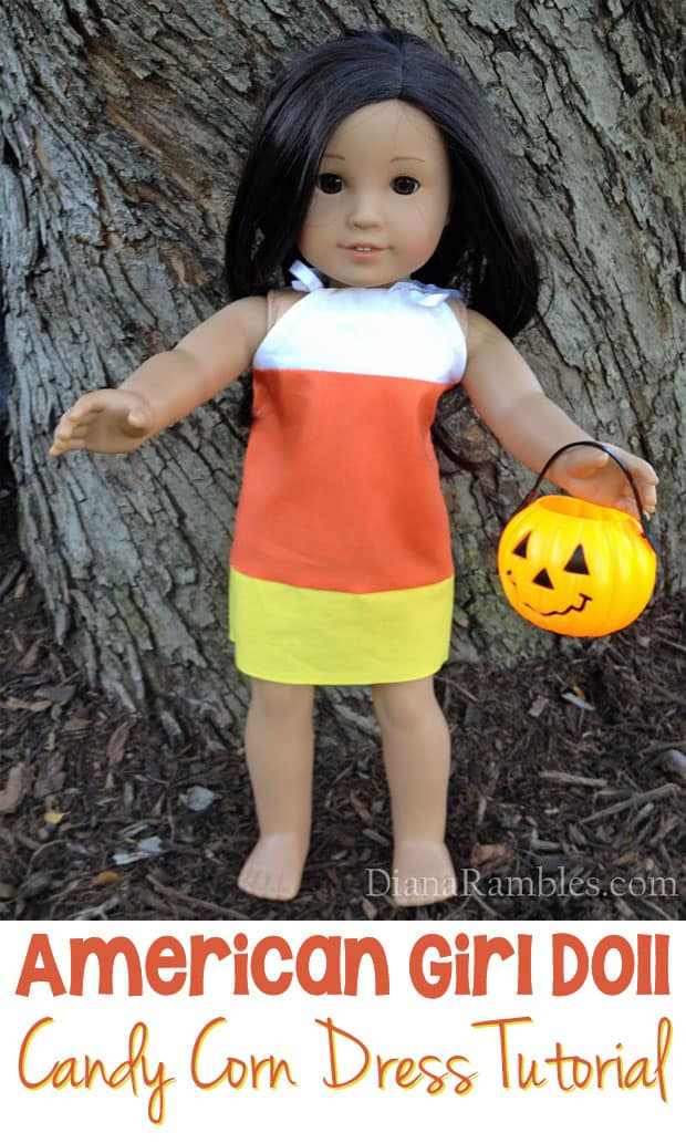 American Girl Doll Candy Corn Dress Tutorial - Learn how easy it is to sew this Create this American Girl Doll Candy Corn Dress.