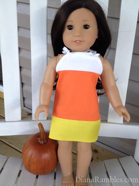 American Girl Doll Candy Cane Dress