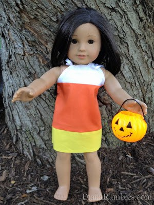 American Girl Doll Candy Corn Dress