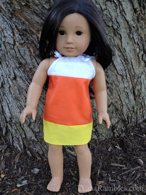 American Girl Doll Candy Cane Pillowcase Dress