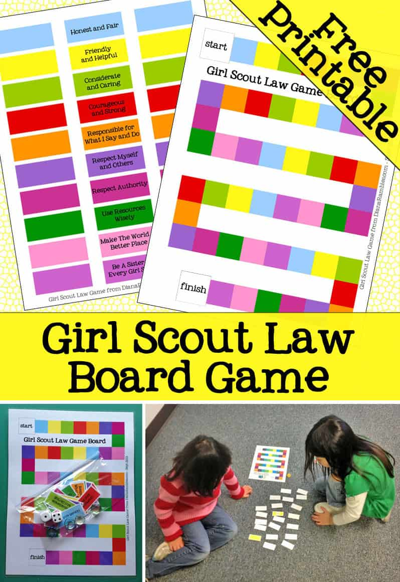 Girl Scout Law Free Printable - Teach your Girl Scouts the Girl Scout Law with this free download printable.