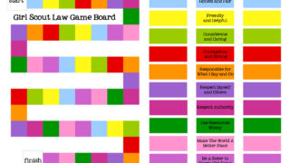 collage of the Girl Scout Law Game