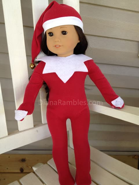 american girl elf on a shelf christmas sewing tutorial