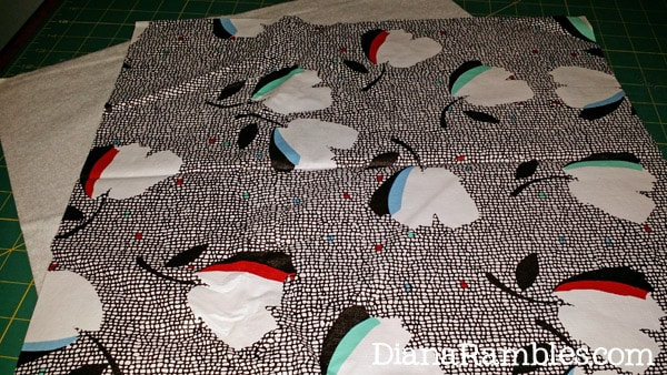 DIY Shoe Covers cut plastic table cover