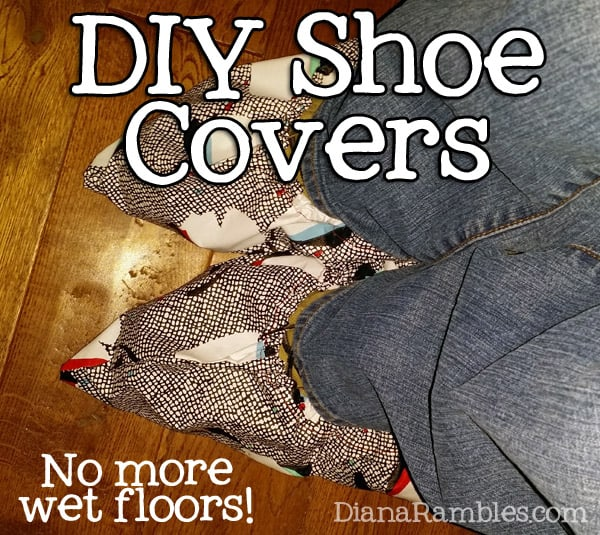 DIY Shoe Covers Dry Floors