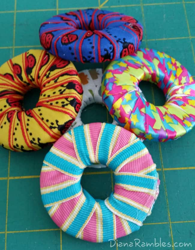 DIY Sewing Pattern Weights Wrapped with Ribbon