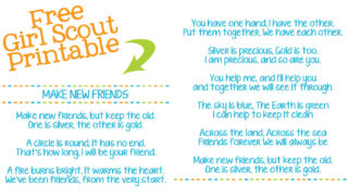 lyrics of Make New Friends Girl Scout Song