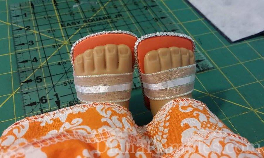 American Girl Doll Sandals DIY