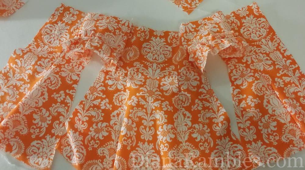 Eden Ava Couture Hawaiian Muu Muu Dress Damask Fabric