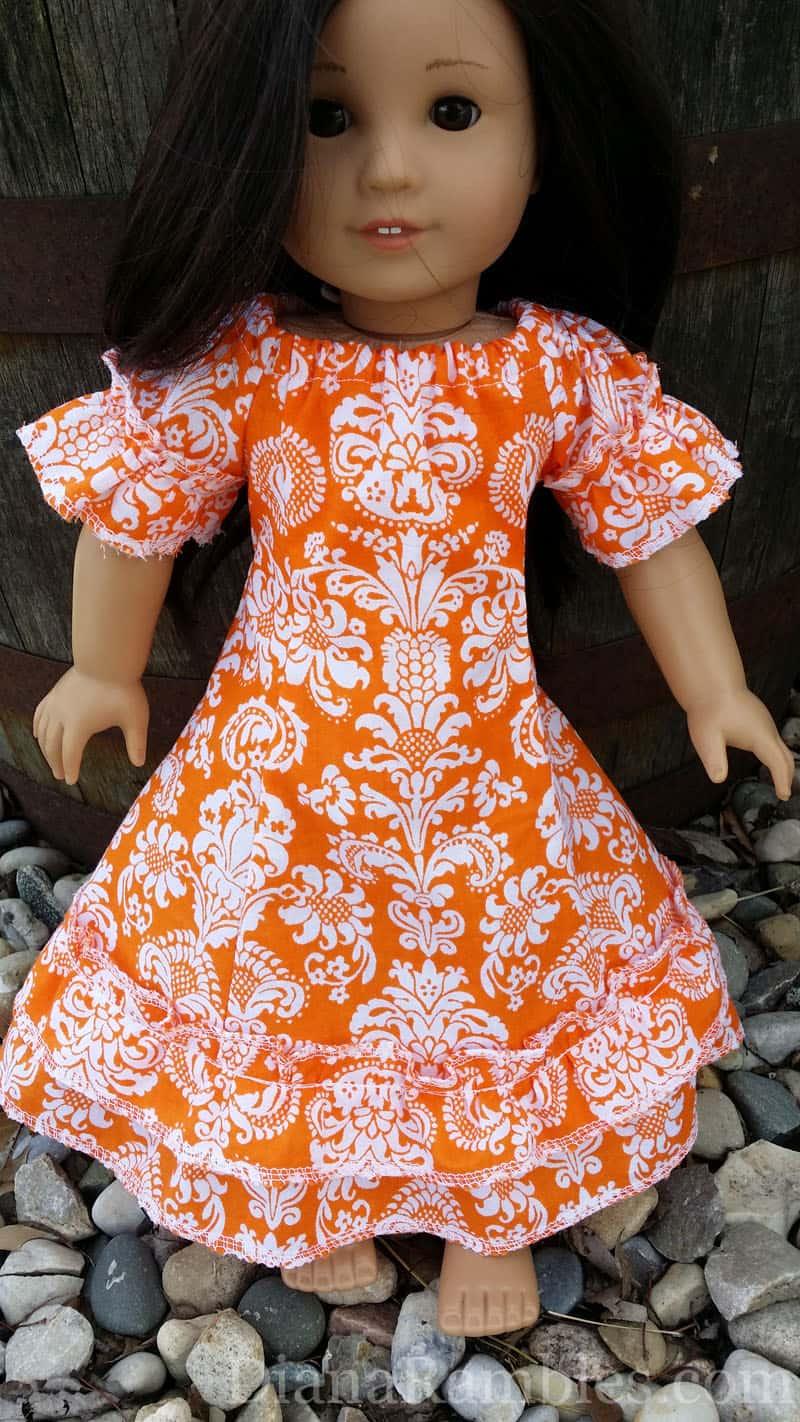 Hawaiian Muu Muu Dress for American Girl Doll