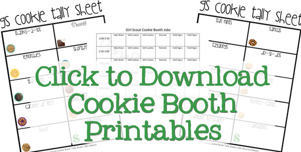 Girl Scout Cookie Booth Printables download link