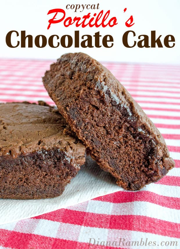 Copycat Portillo's Chocolate Cake Recipe - Have you ever had Portillo's Chocolate Cake? Make your own at home with this knock off recipe. It's a perfect copycat of Portillo's original cake.