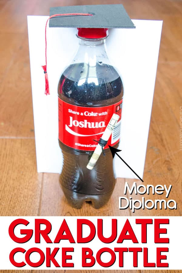 Graduate Coke Bottle with Money Diploma