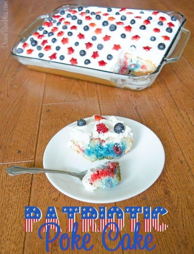 Patriotic Gelatin Poke Cake