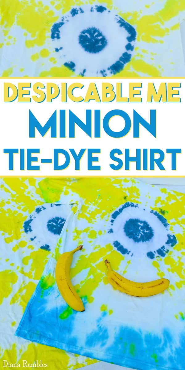 Minion Tie Dye Shirt Tutorial - Does your child love Despicable Me and the Minions? Have fun creating this Minion Tie Dye shirt for them to wear all summer.