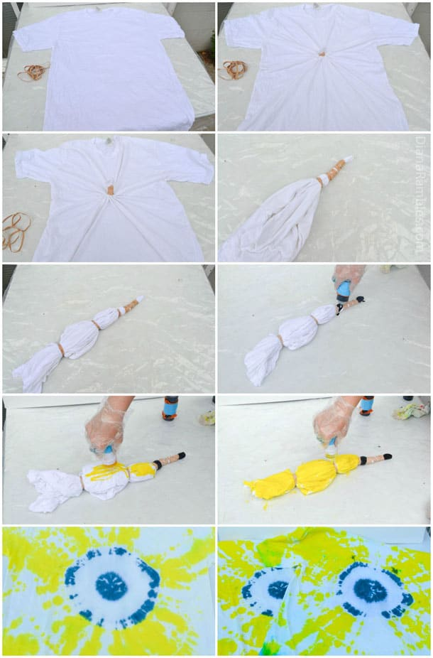 Minion Tie Dye T Shirt Tutorial