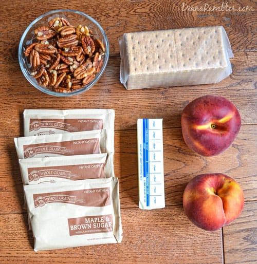 instant oatmeal peach crisp ingredients