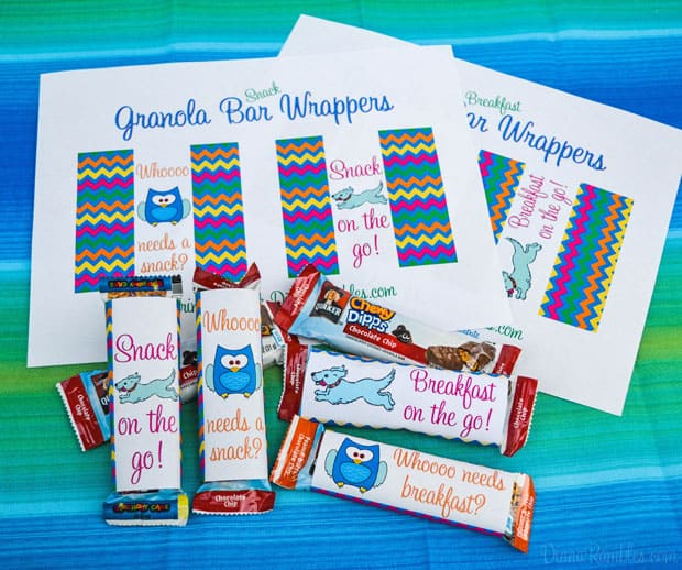 Granola Bars Wrappers #QuakerTime AD