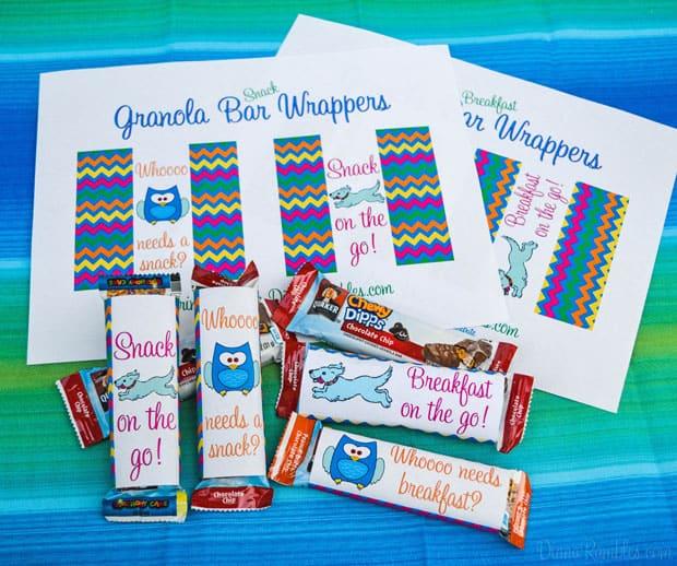 Granola Bars Wrappers #QuakerTime AD