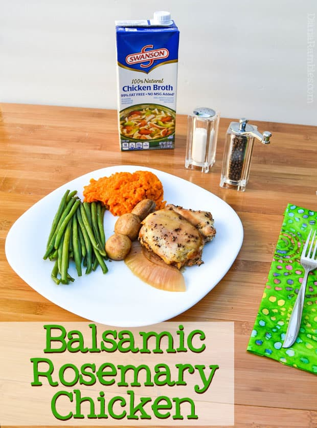 Balsamic Rosemary Chicken in Slow Cooker - Make this tasty chicken recipe in your slow cooker with 5 simple ingredients. It goes well with the carrot mash recipe in the post.