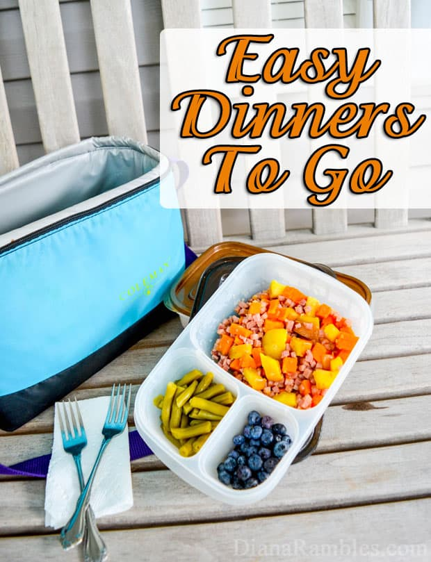 Easy Dinners To Go with Easy Lunchboxes - Busy driving your kids around to activities? Check out these simple prepared meals to go suggestions. Portable dinners make a busy mom's life easier!