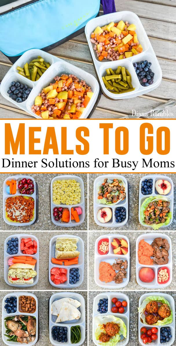 DIY Prepared Meals To Go - Dinner Solutions for Busy Moms - Busy driving your kids around to activities? Check out these simple prepared meals to go suggestions. Portable dinners make a busy mom's life easier!