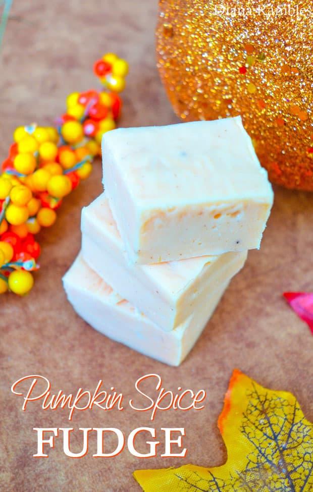 Pumpkin Spice Microwave Fudge