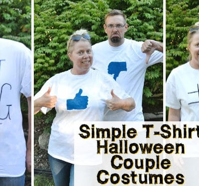 Simple T-Shirt Couples Halloween Costumes