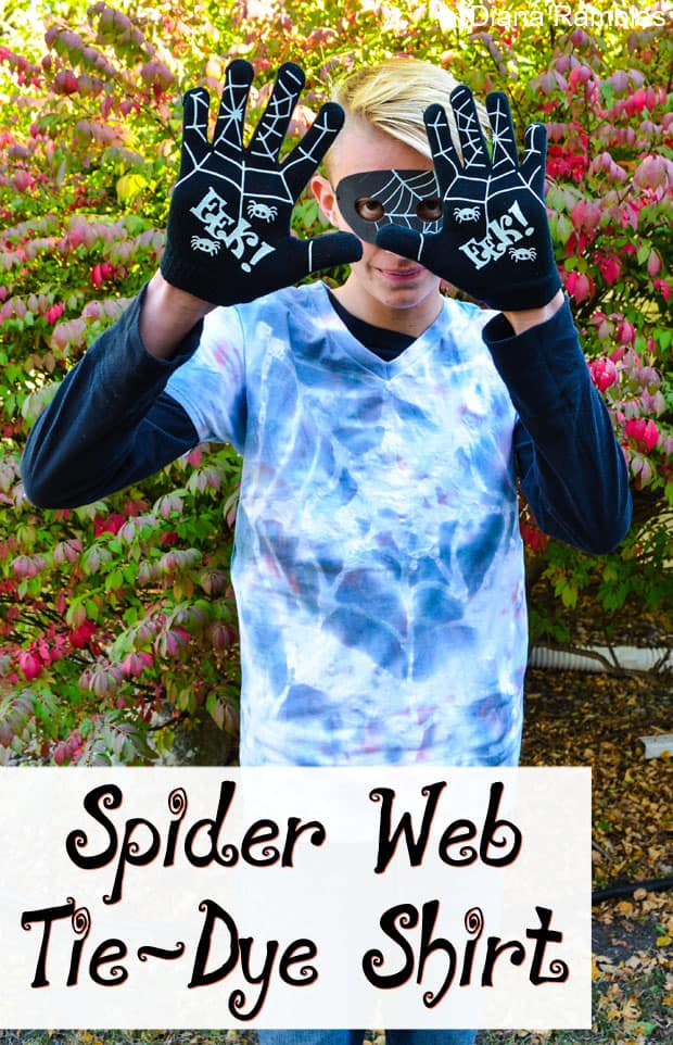 Spider Web Tie-Dye Shirt & Boo Kit