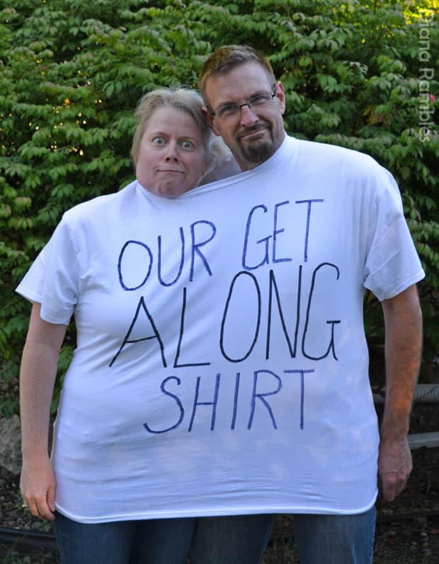 Our Get Along Shirt Couple Halloween Costume