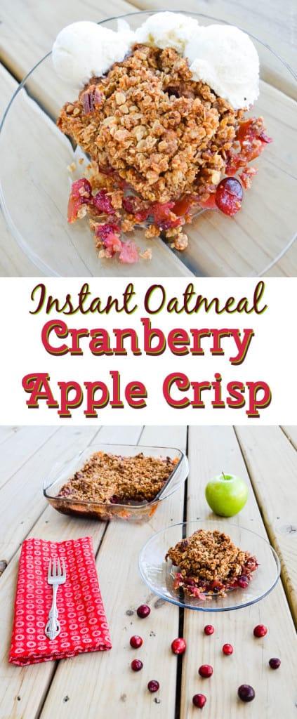Instant Oatmeal Fresh Cranberry Apple Crisp #Recipe