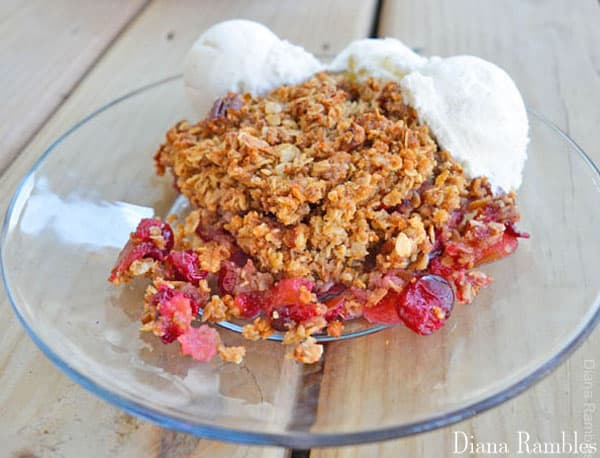 Instant Oatmeal Cranberry Apple Crisp