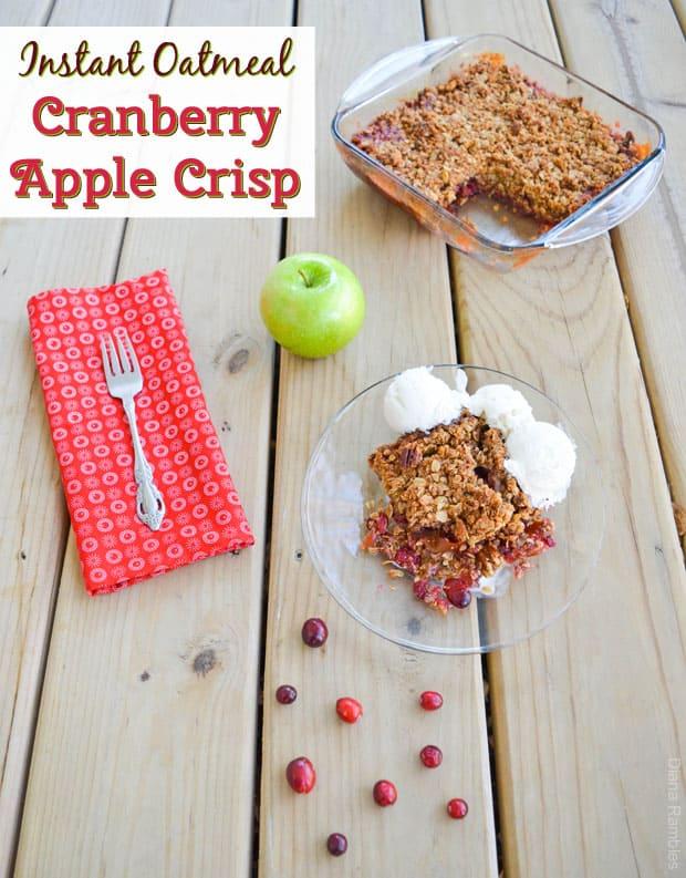 Instant Oatmeal Cranberry Apple Crisp #Recipe