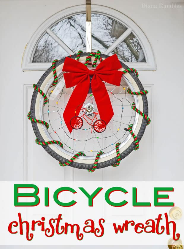 Bicycle Christmas Wreath #tutorial