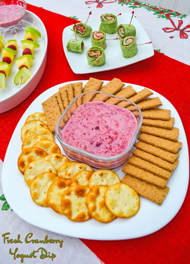 Fresh Cranberry Dairy-Free Yogurt Dip
