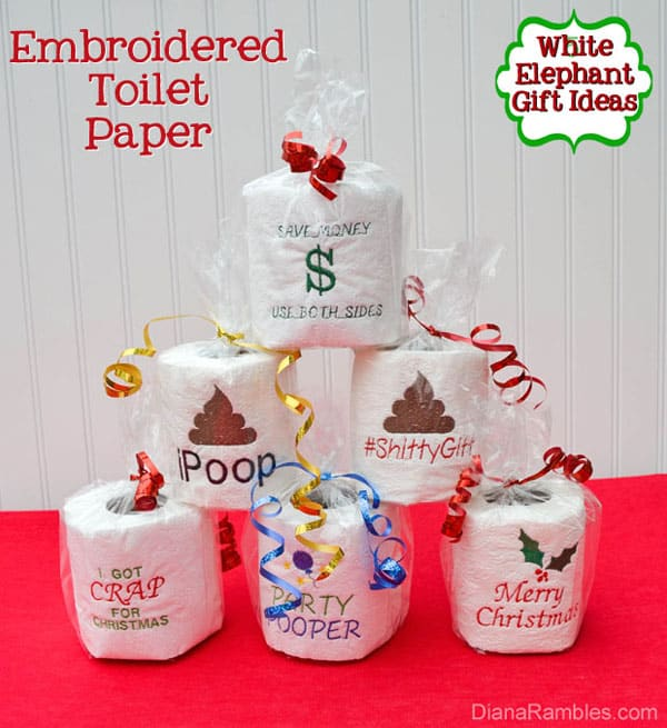 Hilarious white elephant gift exchange ideas for parties great for a white elephant gift exchange but also perfect as a gag gift for a birthday retirement or other special events negle Gallery