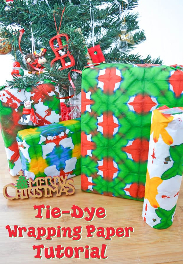 Tie-Dye Wrapping Paper Tutorial
