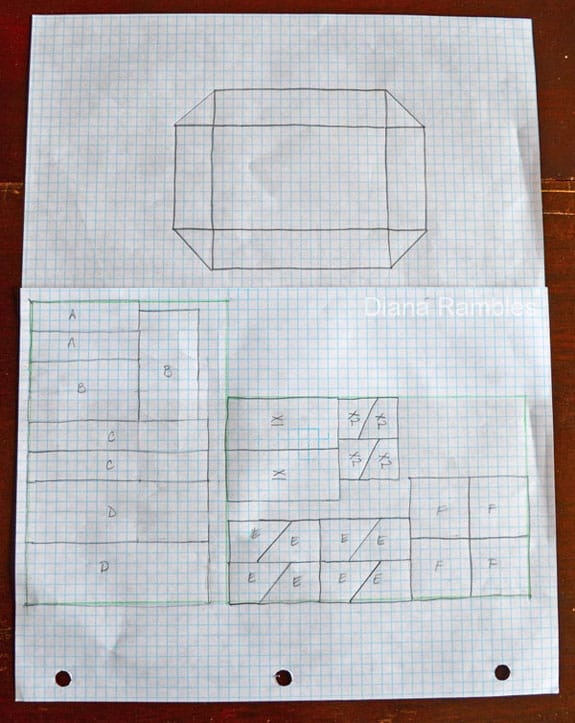 hand drawn plans for a snack arena
