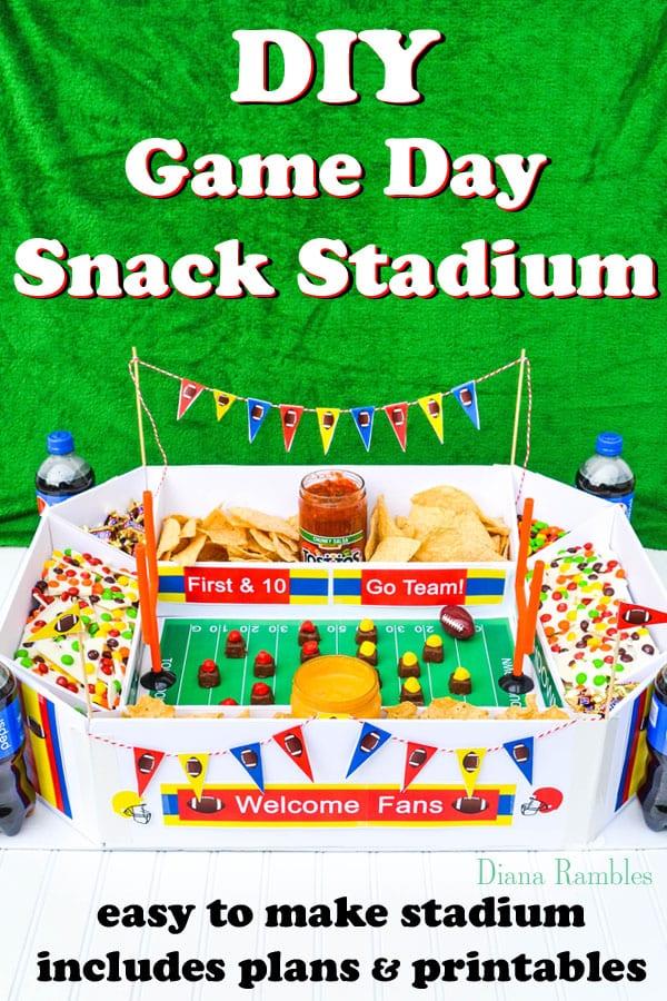 DIY Snack Stadium with Directions