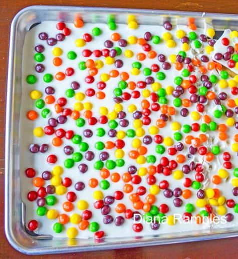 Skittles Bark Recipe