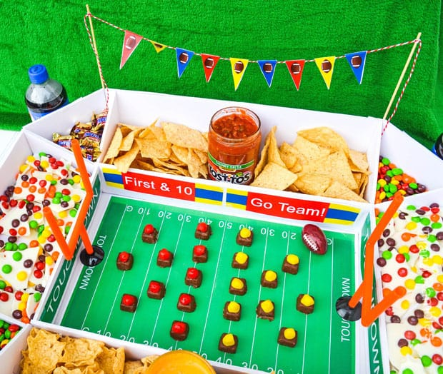 close up of the field of a football snack stadium