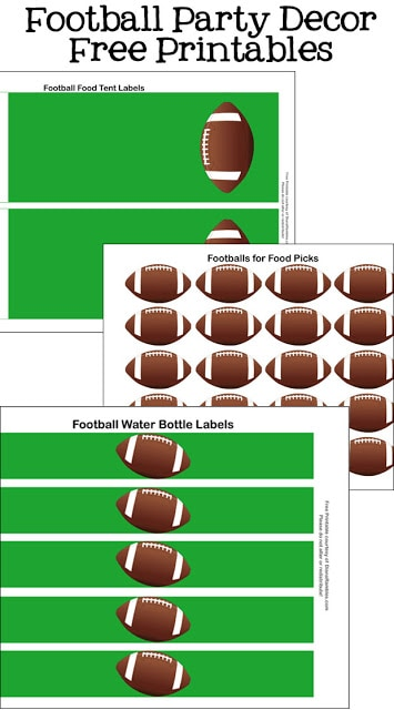 free football party decorations collage