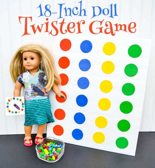 18-Inch Doll Twister Game Night #GameNightIn AD #Tutorial