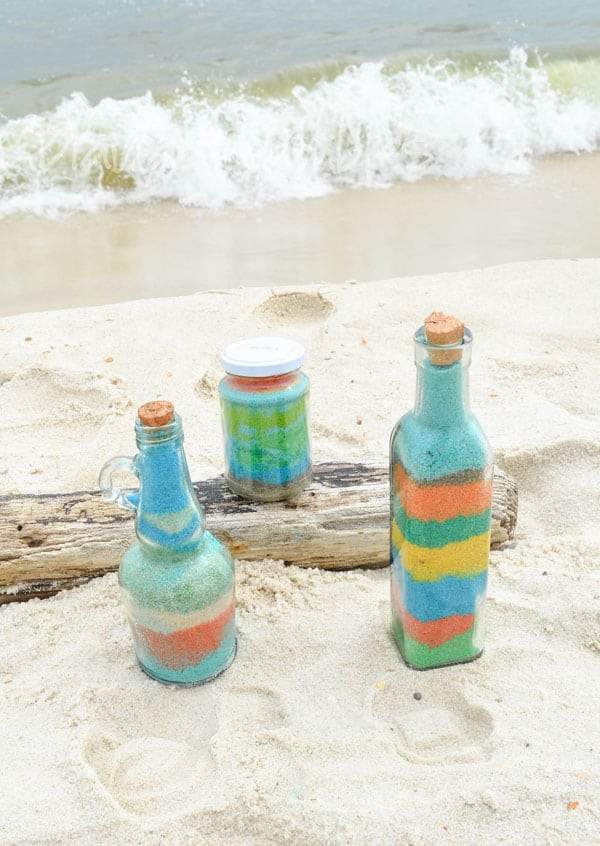 Sand-Art-Bottles-on-Beach-Craft