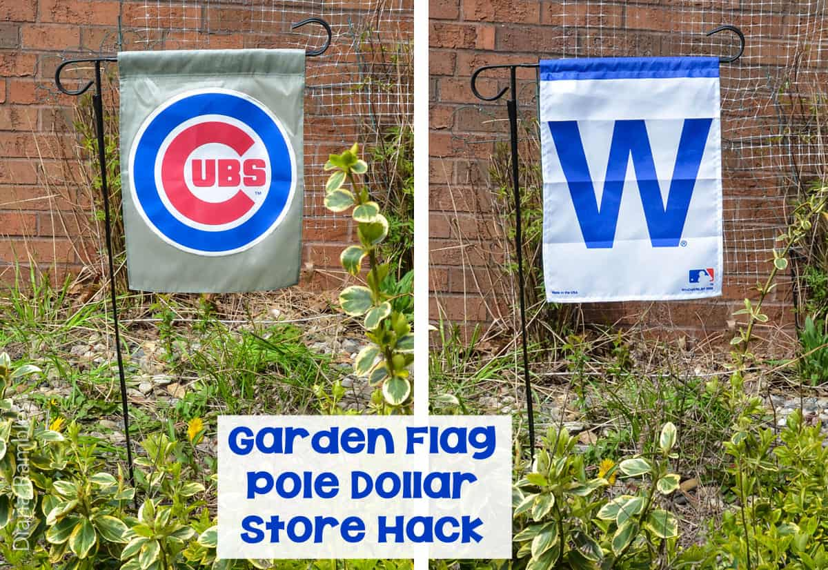 Cubs-Garden-Flag-Pole-Dollar-Store-Hack