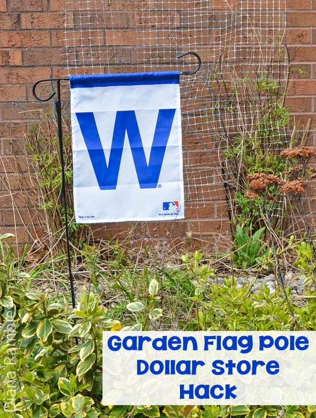 Garden Flag Pole Dollar Store Hack