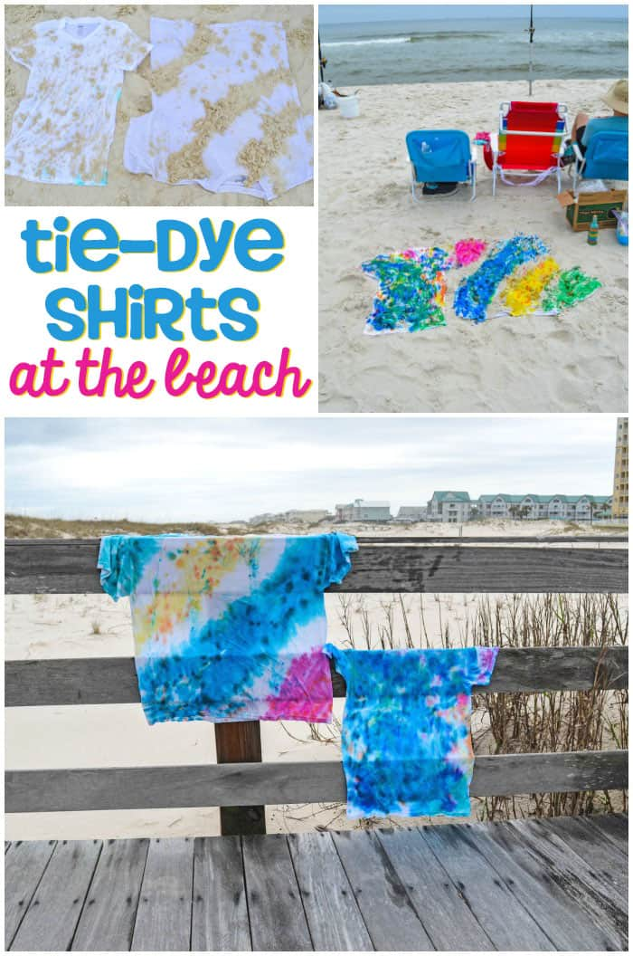 How to Tie-Dye Shirts with Sand at the Beach - Try something different on spring break. Tie-dye with sand at the beach. It's fun and easy and creates a great vacation keepsake.